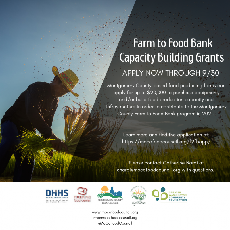 Farm to Food Bank Applications