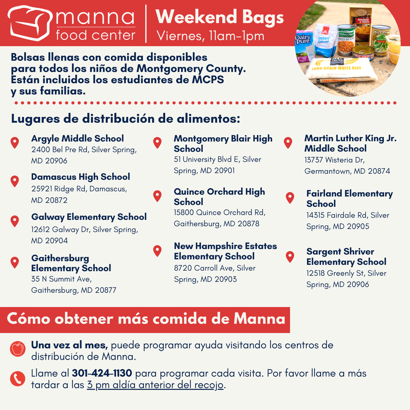 Weekend Bags announcement - Spanish